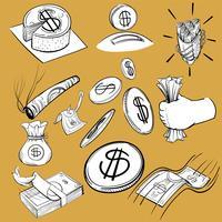 Handzeichnungs-Illustrationssatz der Finanzierung