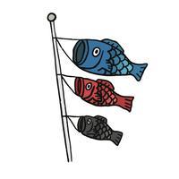 Fisklanternor som flyger i vinden