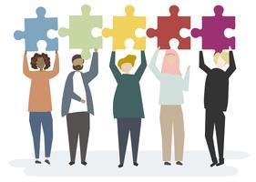 Il puzzle collega il concetto insieme
