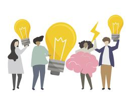 Ideas and creativity concept illustration