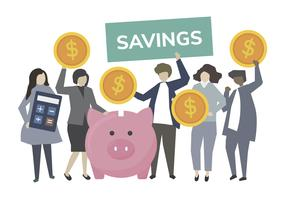 Business people banking and saving concept