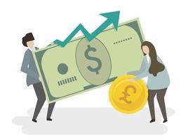 Abbildung von Leuten mit Geld