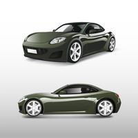 Carro esportivo verde isolado no branco vector