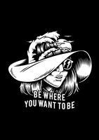 Sii dove vuoi essere illustrazione creativa