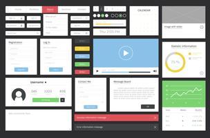 Webbdesign mall layout illustration