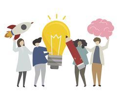 Ilustración de concepto de idea de negocio creativo