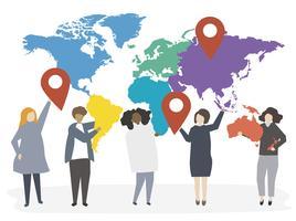 Illustration av internationella olika människor