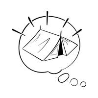 Handzeichnungs-Illustrationssatz Wanderlustikonen