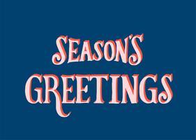 Jahreszeit-Gruß-Typografieillustration