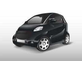 Vetor de carro híbrido compacto preto