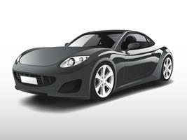 Carro esportivo cinza isolado no branco vector