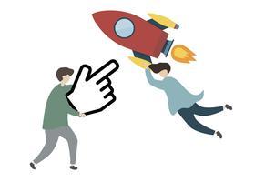 Illustration des Charaktertechnologieförderungskonzepts