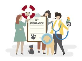 Illustration of pet insurance