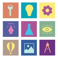 Iconos gráficos de negocios