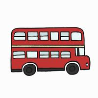 Rote Doppeldecker London-Busillustration