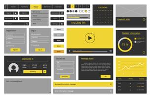 Ilustração de layout de modelo de design de site