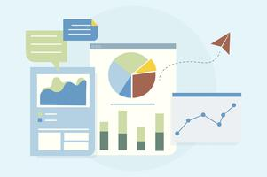 Illustration av affärsgrafanalys