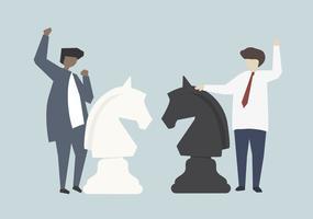 Ilustração de conceito de estratégia de sucesso empresarial empresários