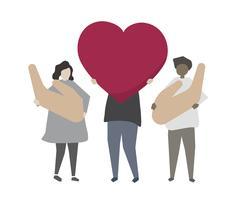 Illustration de service communautaire de dons et de bénévolat