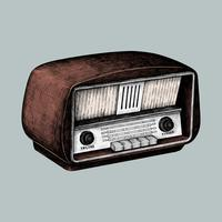 Hand drawn sketch of a radio