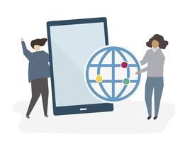 Personas con tableta digital.