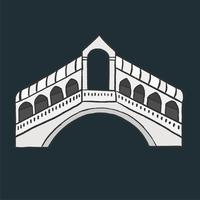 Rialto Bridge i Italien grafisk illustration