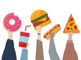 Símbolos de comida rápida
