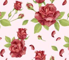 Padrão de flor rosa desenhada de mão