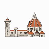 Ilustración gráfica de la catedral de Florencia