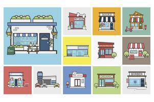 Illustration av småföretag vektor uppsättning