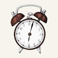 Handdriven väckarklocka illustration