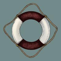 Bóia salva-vidas inflável desenhada do tubo da mão