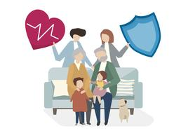 Illustration of family life insurance