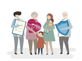 Illustrazione dell'assicurazione sulla vita familiare
