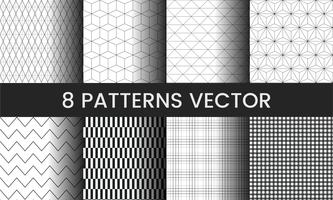 Collection of pattern vectors illustration