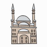 La grande mosquée de Mohammed Ali Pacha dans la citadelle du Caire