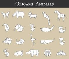 Vecteur origami animal