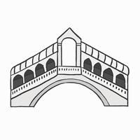 Rialto Bridge in Italy graphic illustration