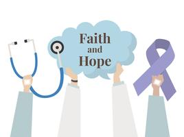 Illustration of faith and hope concept