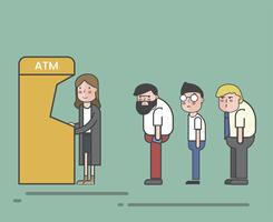 Illustration of an ATM queue