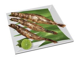 Charcoal-grillad japansk Shishamo fisk
