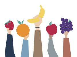 Illustration av hälsosam kostkoncept