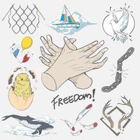 Dibujo a mano ilustración de concepto de libertad