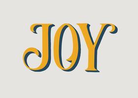 Vreugde typografie illustratie