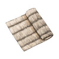 Illustration av bambu tallrik