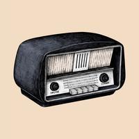 Hand getrokken schets van een radio