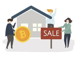Ilustración de una casa en venta