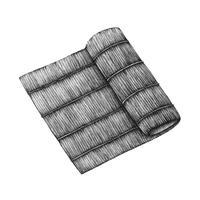 Handgezeichnete Sushi Bambus Rollenmatte