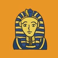 La máscara de Tutankamon, faraón egipcio