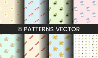 Coleção de ilustração de vetores padrão